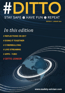 front page of #ditto magazine http://www.esafety-adviser.com/latest-newsletter/