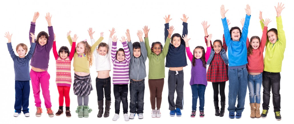 Photograph of children jumping up in the air - online safety training for schools