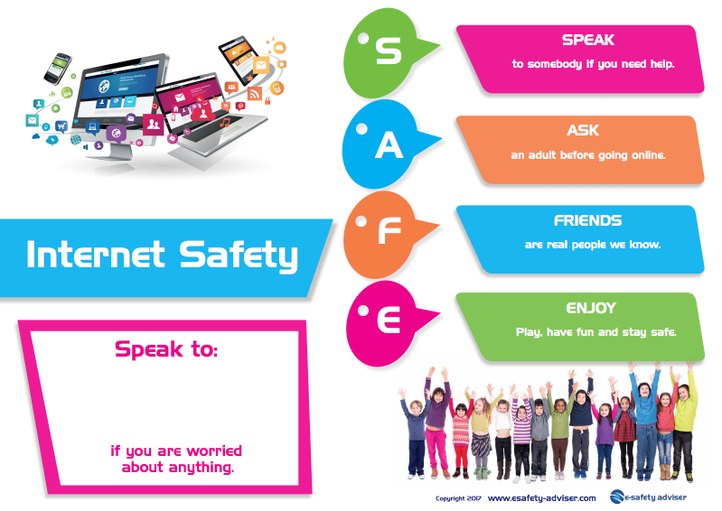 photograph relating to Free Printable Safety Posters referred to as e-Stability Posters for younger small children and faculties in the direction of exhibit